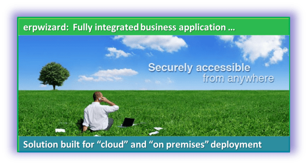 erpwizard integrated business application accessible from anywhere