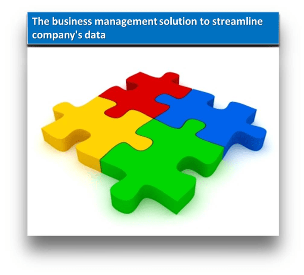 The business management solution to streamline company's data