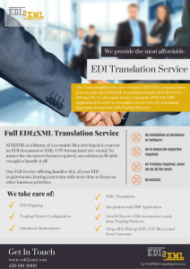EDI2XML Translation Service