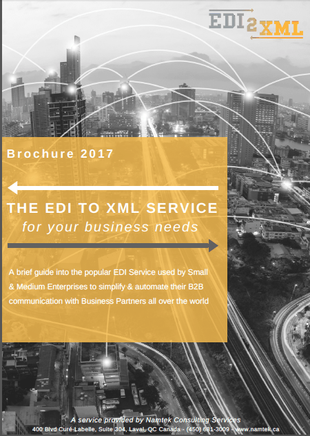 Brochure 2017 The EDI to XML Service for your Business Needs