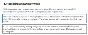 Homegrown EDI Software