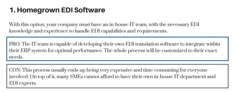 Homegrown EDI Software