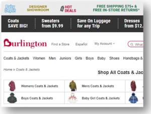 EDI compliance Burlington Coat Factory