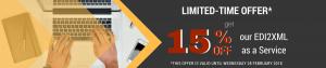 15% off EDI2XML as a service