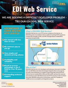 EDI Web Service advantages