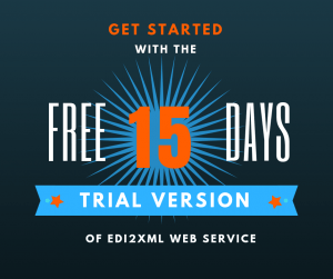 Free 15 days EDI web service