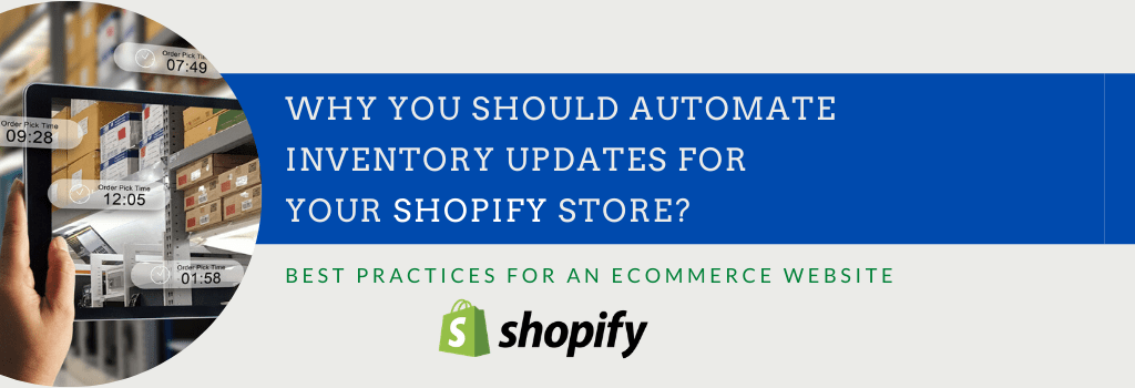 Shopify inventory update management