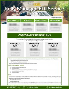EDI Fully managed Service price